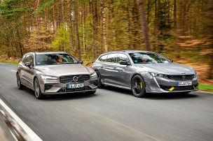 Peugeot 508 SW, Volvo V60: Vergleichstest