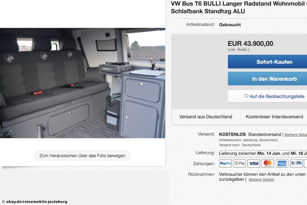 eBay  VW Bus T6 BULLI