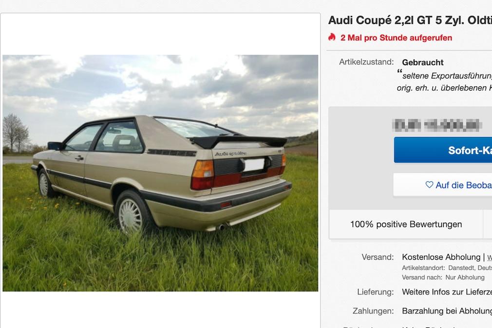 Ebay Audi Coupé 2,2l GT