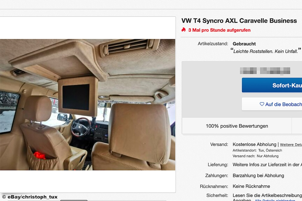 Ebay VW T4 Syncro AXL