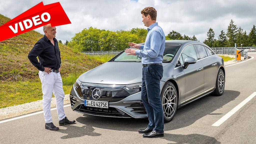 Im EQS mit Daimler-Boss Ola Källenius