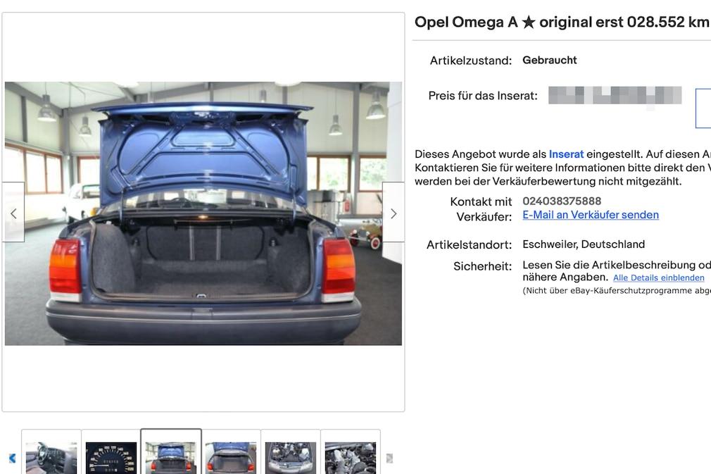eBay  Opel Omega A