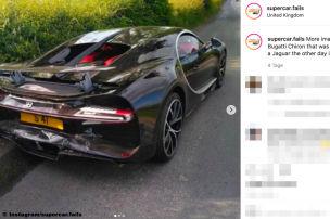 Jaguar XE crasht in Bugatti Chiron