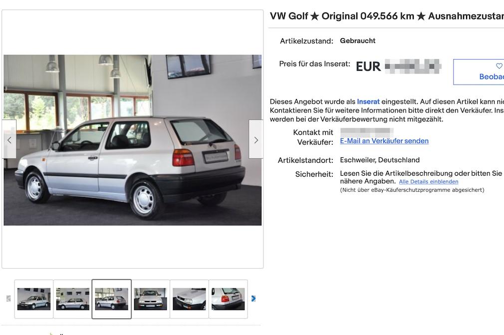 eBay VW Golf