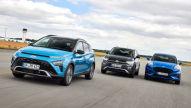 Ford Puma, Hyundai Bayon, VW T-Cross: Test