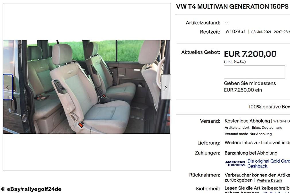 eBay VW T4 MULTIVAN