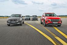 Vier SUVs mit Stecker im Vergleichstest