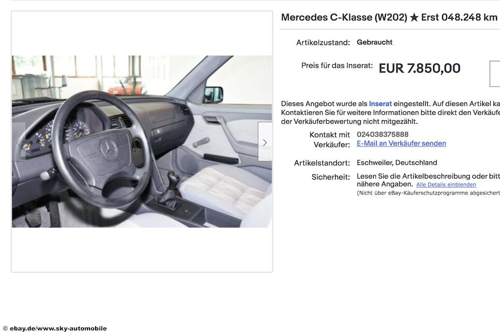 eBay  Mercedes C-Klasse