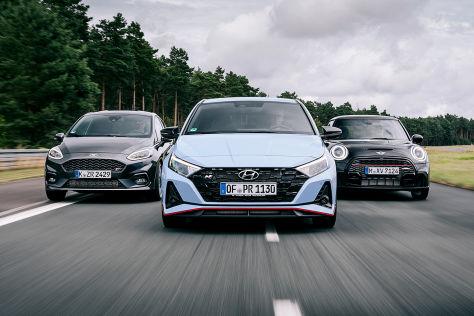 Ford Fiesta ST, Hyundai i20 N, Mini JCW: Test, Motor, Preis - autobild.de