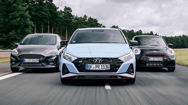 Ford Fiesta ST, Hyundai i20 N, Mini JCW: Test