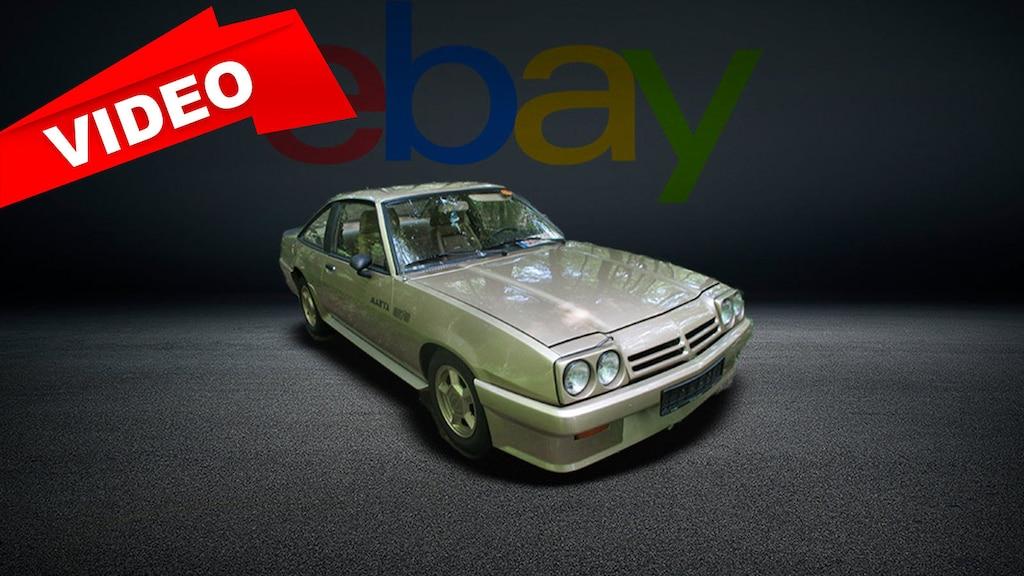 Goldener Opel Manta GT/E mit Hohlraumversiegelung zu verkaufen