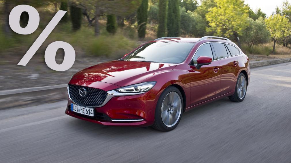 So bekommt man den Mazda6 Kombi mit bis zu 10.255 Euro ...