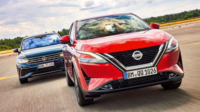 Nissan Qashqai gegen VW Tiguan: SUVs