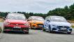 VW Golf GTI Clubsport 45       Ford Focus ST 2.3 EcoBoost       Hyundai i30 N Performance