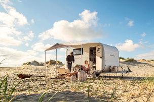 Dieser Wohnwagen riecht nach Strand