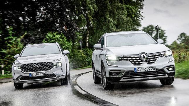 Hyundai Santa Fe gegen Renault Koleos: Test