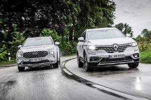 Zwei stattliche SUVs mit starkem Diesel
