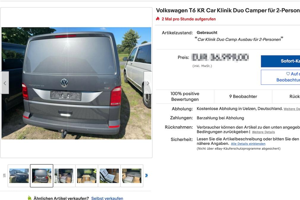 eBay Volkswagen T6 KR