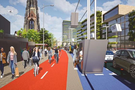 ITS Die Straße der Zukunft - Willy Brandt Straße