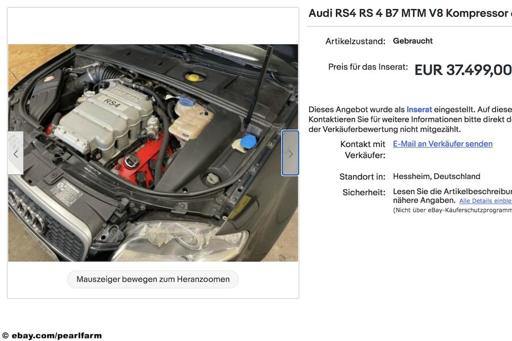 eBay Volkswagen  Audi RS4 RS