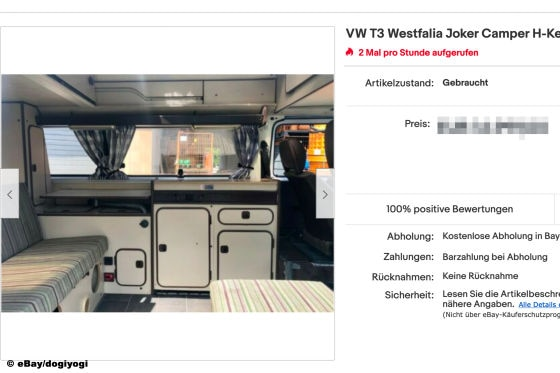 eBay VW T3 Westfalia Joker