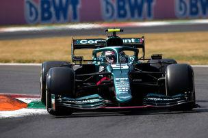 Vettel k�mpft mit Vibrationen