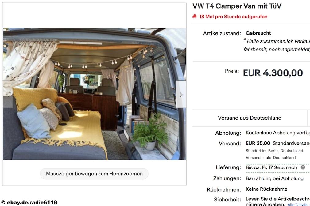 eBay  VW T4 Camper Van