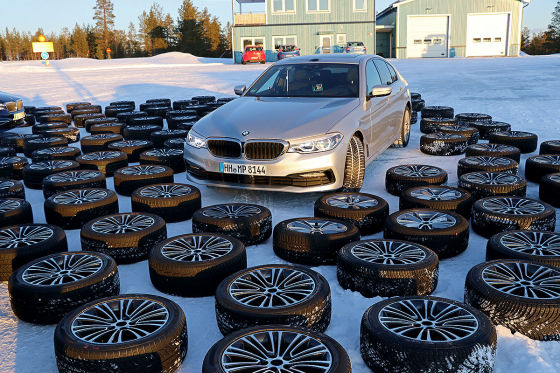 Winter tire test with more than 50 tires