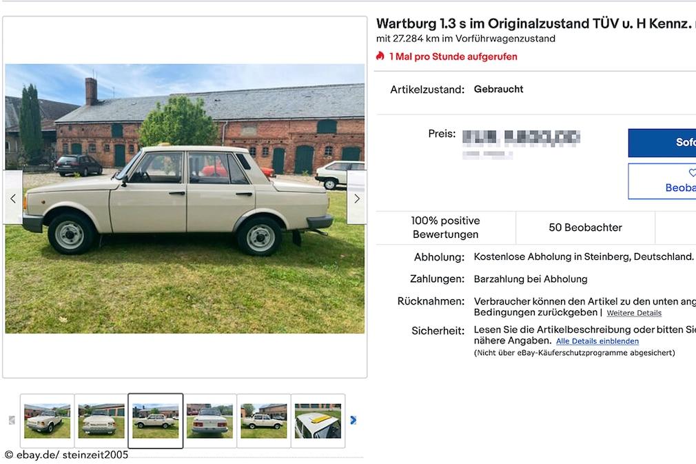 eBay  Wartburg 1.3 s
