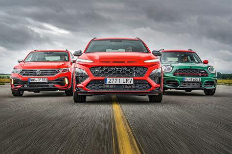 VW T-Roc R, Hyundai Kona N, Mini JCW Countryman: SUVs,Test, Preis - autobild.de