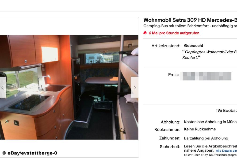 eBay   Mercedes Wohnmobil Setra 309 HD - Exklusiver Camper der Extraklasse