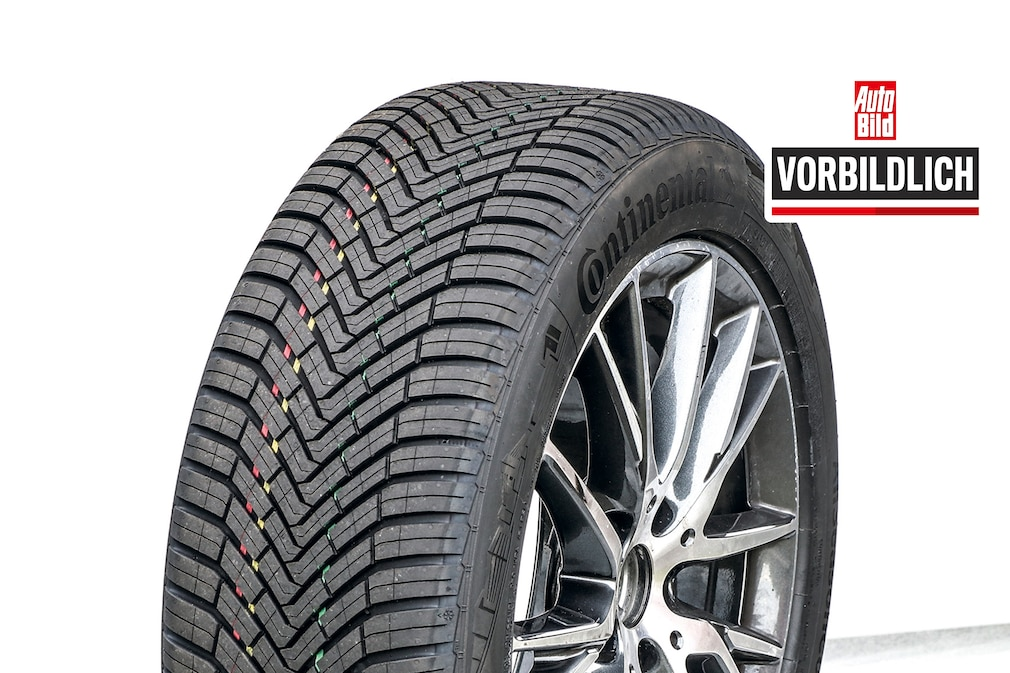 All-weather tires All-season tire test in 225/50 R 17 - Continental AllSeason Contact. Exemplary