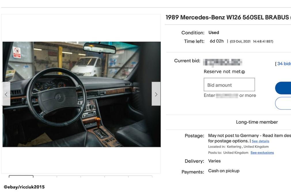 eBay  Mercedes-Benz W126 560SEL BRABUS (1989)