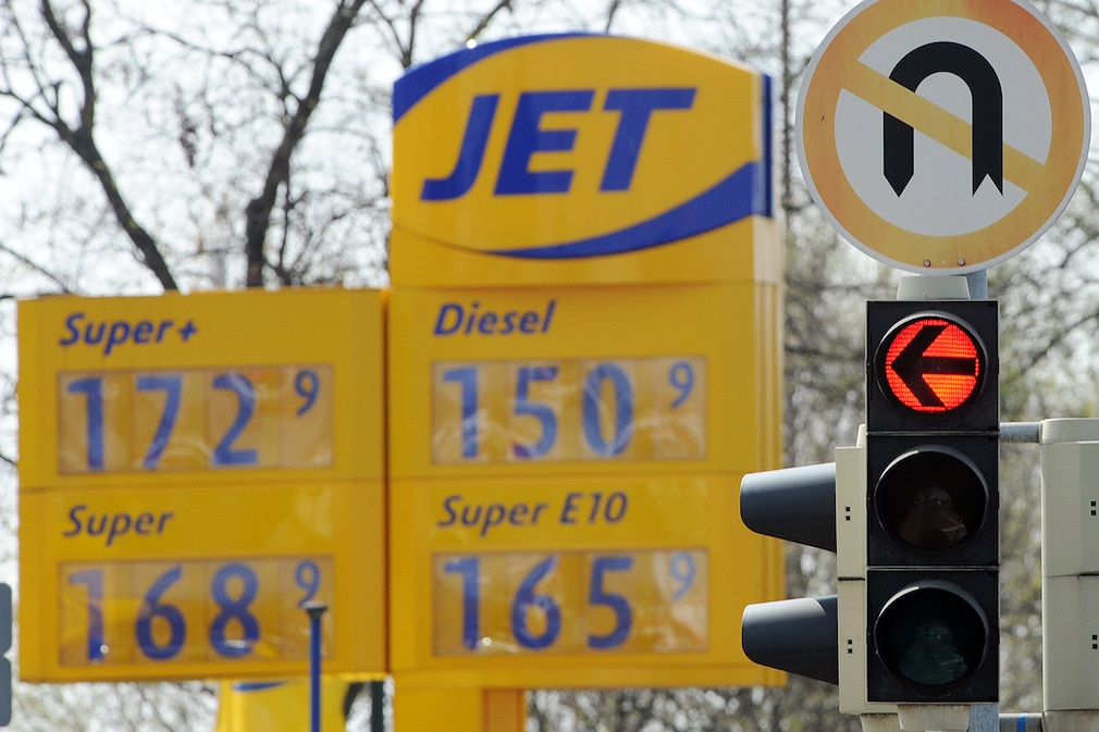 Petrol station prices in Baden-Wuerttemberg