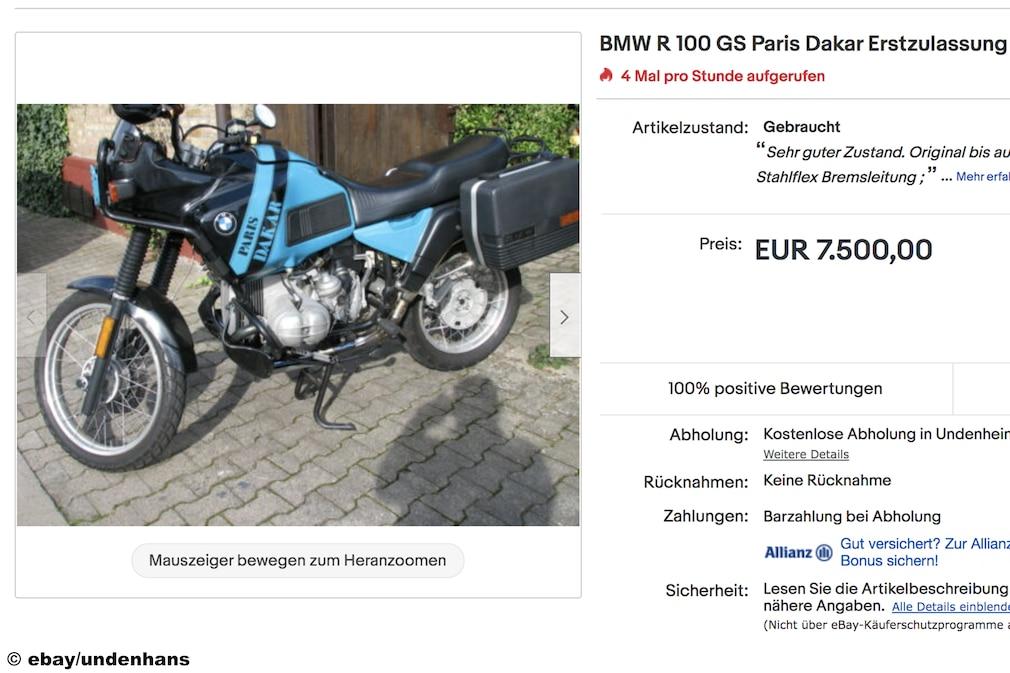 eBay   BMW R 100 GS Paris Dakar