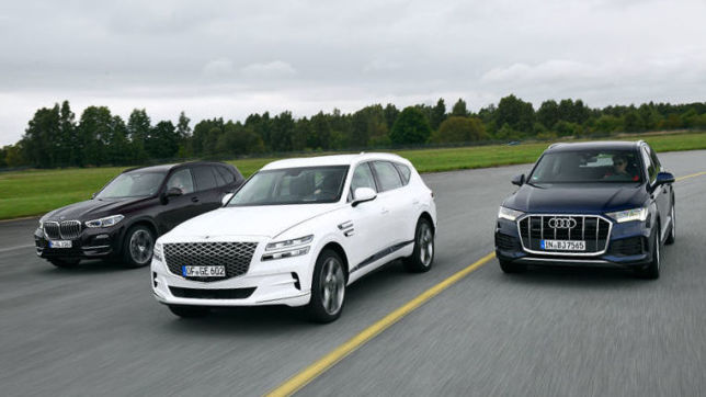BMW X5, Audi Q7, Genesis GV80: SUV-Test