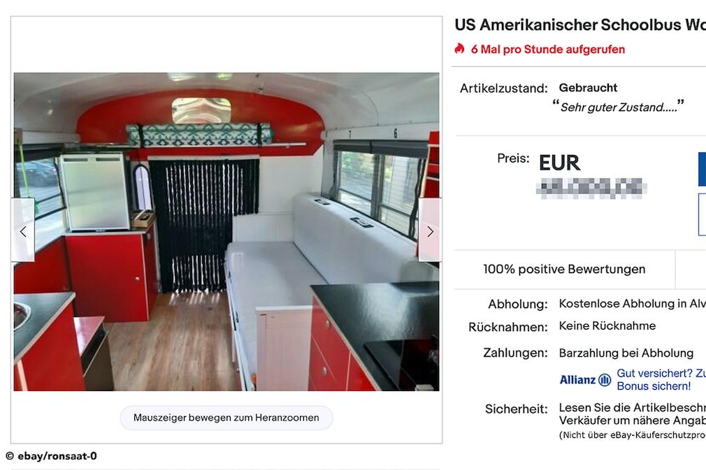 eBay   US Amerikanischer Schoolbus Wohnmobil Umbau