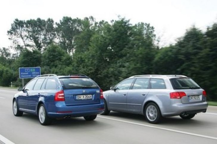Skoda Octavia RS Combi gegen Audi A4 Avant