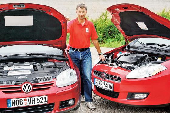Fiat macht Druck auf VW: Mit dem T-Jet-Motor greift der Bravo den Golf TSI an.