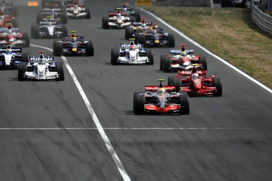 Der Start Formel 1 Ungarn 2007