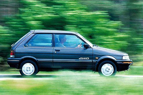 Subaru Justy: ab 2800 Euro bei Laufleistungen um 60.000 Kilometer.
