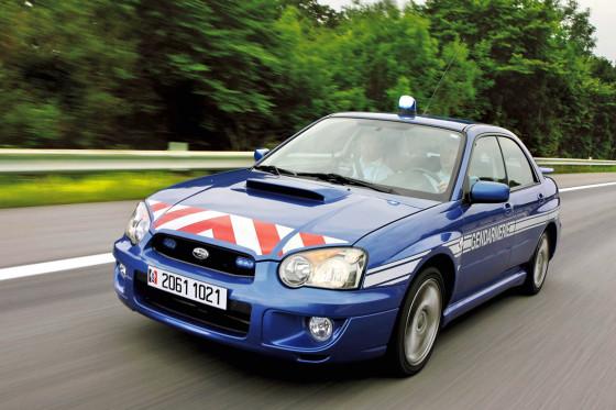 Starke Polizei-Autos