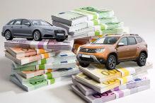 Große Autokosten-Tabelle