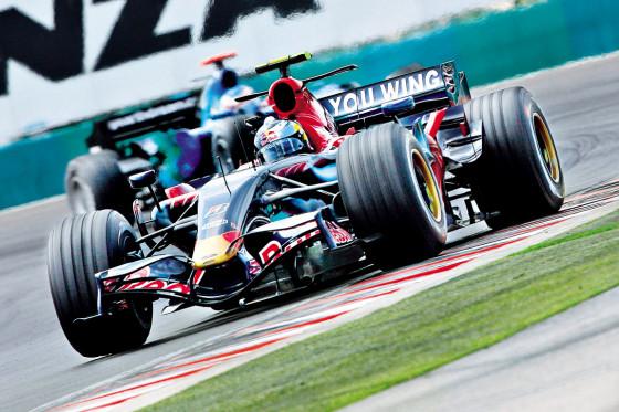 Beim GP Ungarn 2007: Sebastian Vettel fährt im Toro Rosso auf Platz 16.