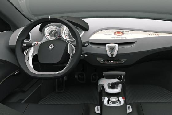 Fast wie die Limousine: Die Studie hübscht den Laguna-Innenraum ansprechend auf.