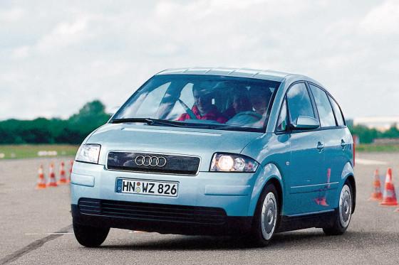 Geiz ist nicht geil: Der Audi A2 ist zwar knauserig, bringt aber wenig Spaß.