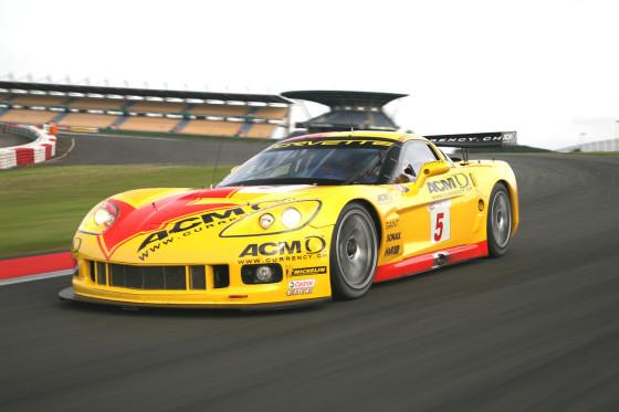 Spätestens beim Durchtreten des Gaspedals ist in der Corvette C6.R Schluss mit lustig.