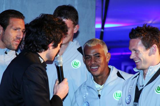 2:2 gegen den HSV? Langt doch! Der Vfl Wolfsburg war in Party-Stimmung.