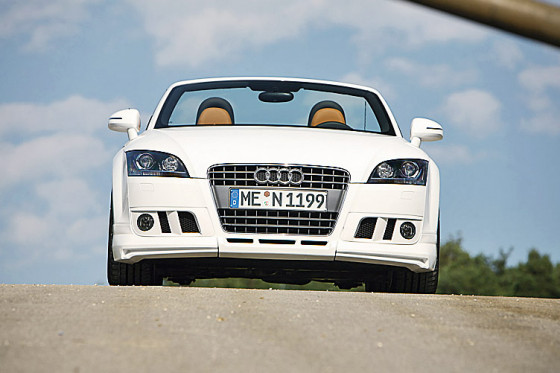 Himmlische Versuchung: Der Audi erinnert an ein automobiles Raffaelo.