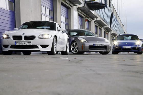 BMW Z4 M Coupé, Nissan 350Z, Porsche Cayman S
